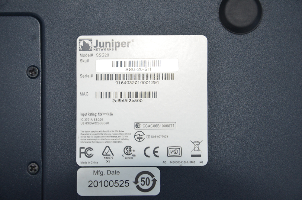 JUNİPER SSG20 SERVER MODEM